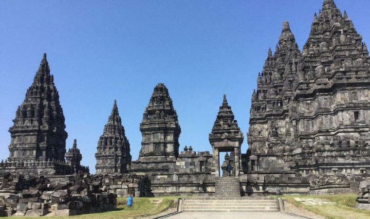 Het prambanan tempelcomplex