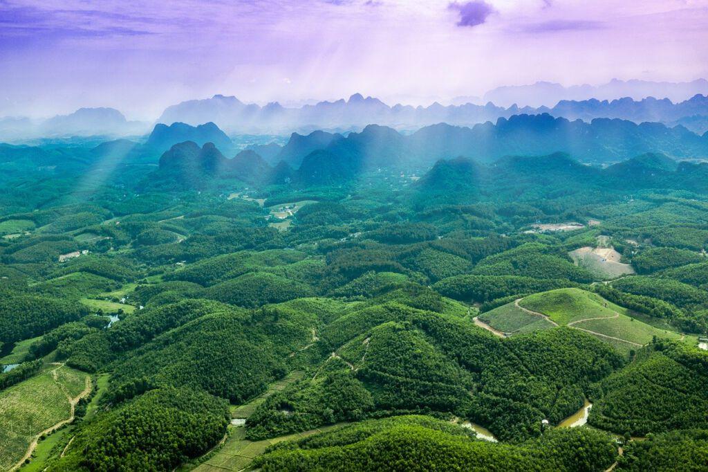 Route door Vietnam