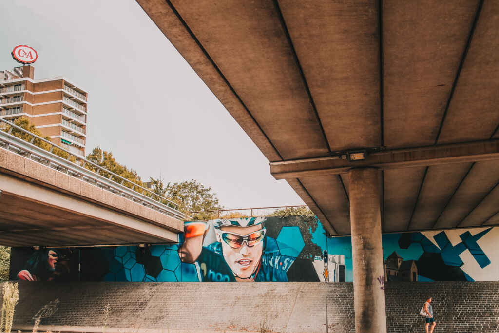 Street art wielrennen